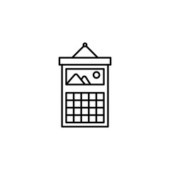 Time management, calendar, date, picture, schedule, vocation icon. Element of time management icon. Thin line icon for website design and development, app development. Premium icon