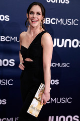 Ice dancer Tessa Virtue arrives at the 2019 Juno Awards in London, Ontario, Canada