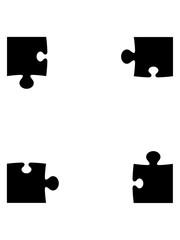puzzle 4 ecken ecke eckteil rand teil puzzlespiel puzzleteil puzzlestück puzzeln form logo spaß bild design cool umriss hobby