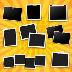 Photo Frame Big Set With Yellow Background