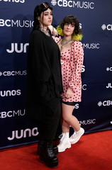 Milk N Bone arrive at the 2019 Juno Awards in London, Ontario, Canada
