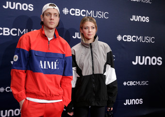 Loud and Brando arrive at the 2019 Juno Awards in London, Ontario, Canada