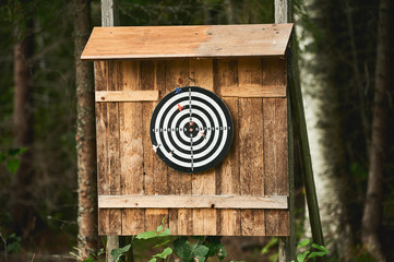 Darts game outdoors in Finland