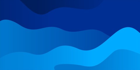 Wave abstract blue color background