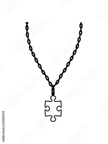 puzzle halskette