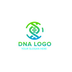 DNA vector logo design template