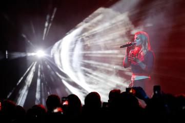 Coeur de pirate performs at the 2019 Juno Awards in London, Ontario, Canada