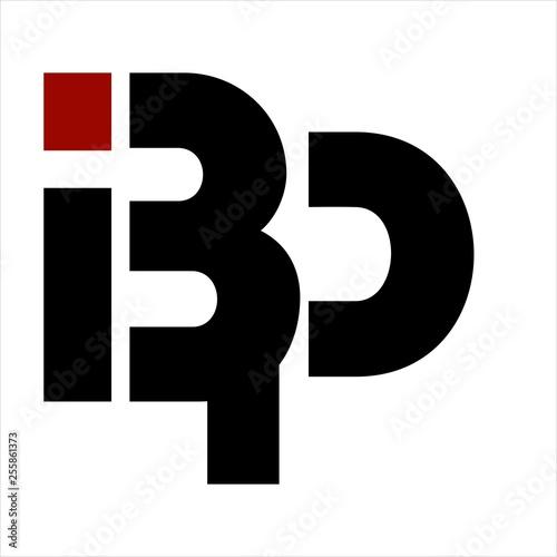 BP, IBP, BIP initials letter company logo