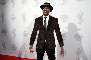 Maestro Fresh Wes poses backstage at the 2019 Juno Awards in London, Ontario, Canada