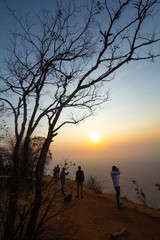 Sunrise at hill top, Karnataka, India
