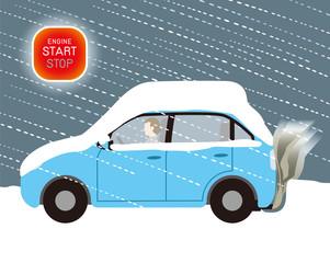 積雪による自動車の排気ガス中毒の危険