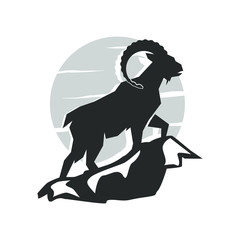 Ram goat logo design