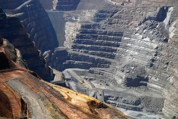 Gold mine operation in open gold mine pit Australia