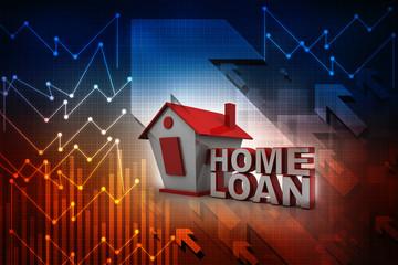 3D rendering house loan