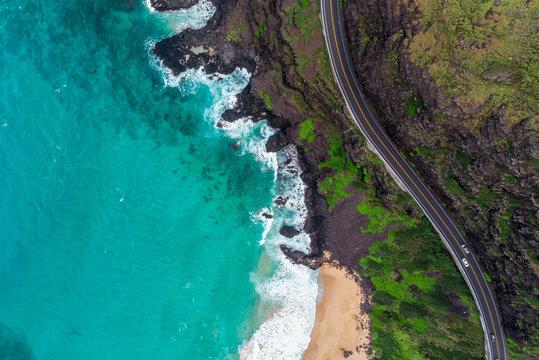 Aerial Hawaiian Coast