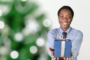 cool black man with a gift