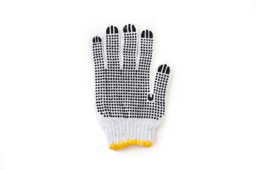 Blank knitted winter gloves mock up set, front back side
