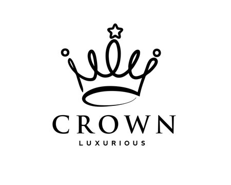 elegant crown drawing art logo design inspiration