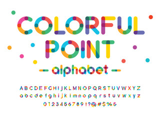 Vector of modern colorful alphabet design Wall mural