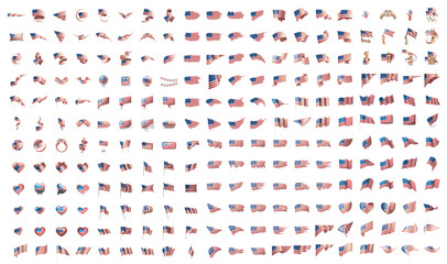 very big collection of vector flags of the USA