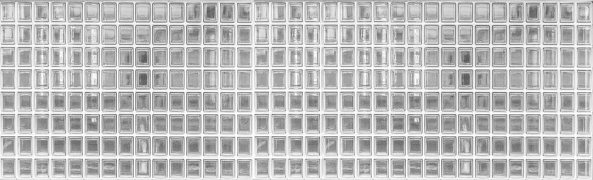 Panorama of Glass Block wall texture and seamless background