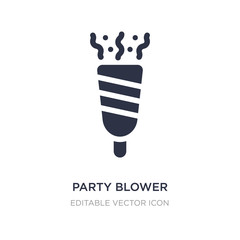 party blower icon on white background. Simple element illustration from Birthday and party concept.