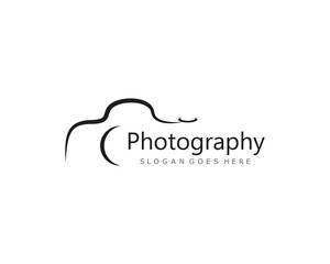 Camera Photography logo template vector icon illustration design