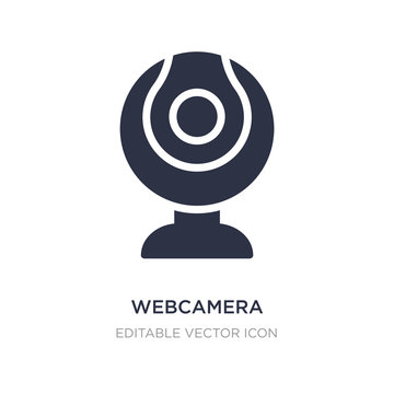 webcamera icon on white background. Simple element illustration from Computer concept.