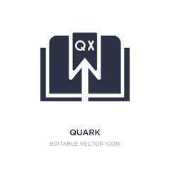 quark icon on white background. Simple element illustration from Edit tools concept.