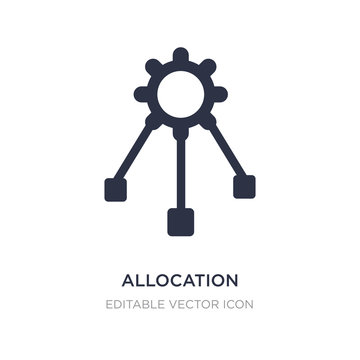 allocation icon on white background. Simple element illustration from Edit tools concept.