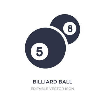 billiard ball icon on white background. Simple element illustration from Gaming concept.