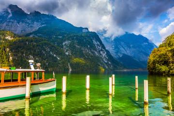 The lake tourist boat