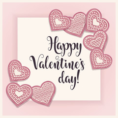 Valentine's day card with pik cookies