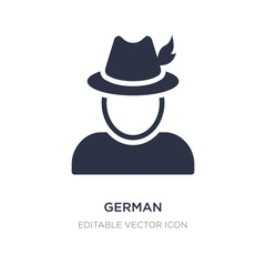 german icon on white background. Simple element illustration from Miscellaneous concept.