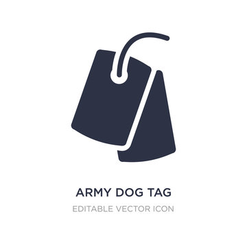 army dog tag icon on white background. Simple element illustration from Miscellaneous concept.