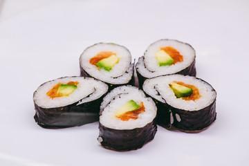 Printed kitchen splashbacks Sushi bar Assortiment de sushis