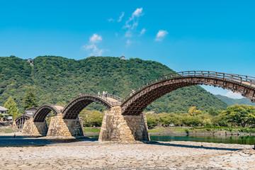 Türaufkleber Khaki 日本三名橋 錦帯橋