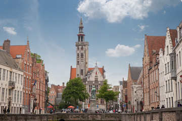 The belfry of Bruges is a medieval bell tower