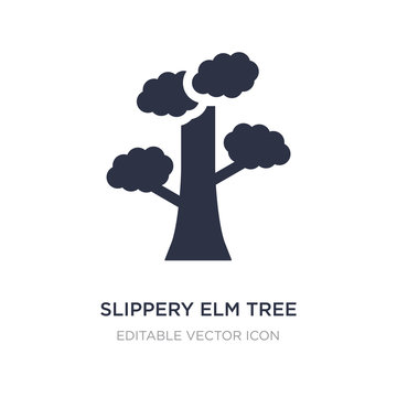 slippery elm tree icon on white background. Simple element illustration from Nature concept.