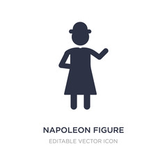 napoleon figure icon on white background. Simple element illustration from People concept.