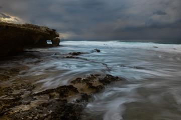 angre ocean with long exposure.