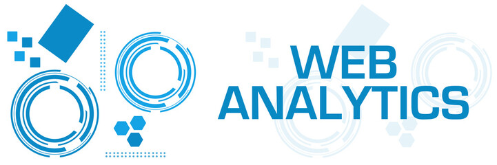Web Analytics Blue Technology Square Horizontal