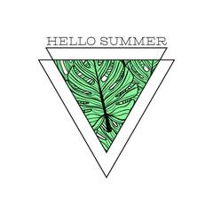 Garden Poster Retro sign minimalistic hello sunnmer poster