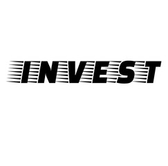 Invest stamp illustration
