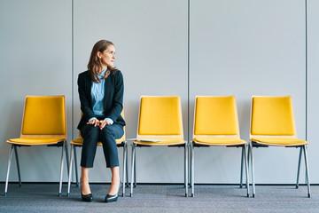 Businesswoman waiting for job interview