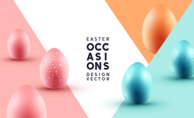 Pastel Chocolate Easter Eggs Background Layout