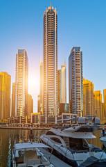 Dubai Marina skyscrapers apartment architecture UAE.