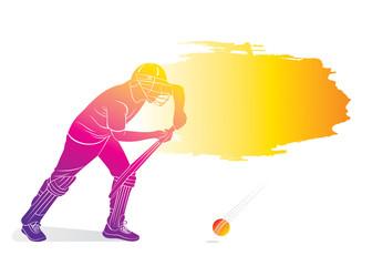 cricket player poster design