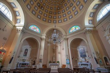 Lecce, Puglia, Italy - Inside interior of Santa Maria della Porta church (chiesa). A region of Apulia