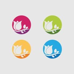 Rose Logo Template